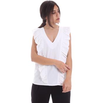 textil Dame Toppe / Bluser Gaudi 011BD45031 hvid