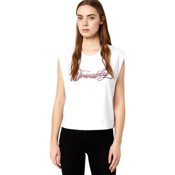 textil Dame T-shirts m. korte ærmer Liu Jo FA0113 J5940 hvid