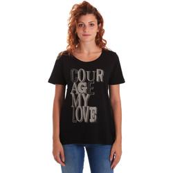 textil Dame T-shirts m. korte ærmer Key Up 5Z19S 0001 Sort