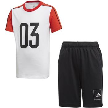 textil Børn Træningsdragter adidas Originals FL2810 hvid