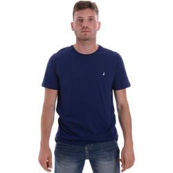 textil Herre T-shirts m. korte ærmer Navigare NV31126 Blå