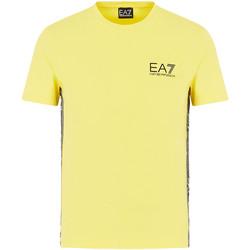 textil Herre T-shirts m. korte ærmer Ea7 Emporio Armani 3HPT07 PJ03Z Gul