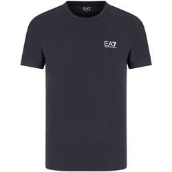 textil Herre T-shirts m. korte ærmer Ea7 Emporio Armani 8NPT51 PJM9Z Blå