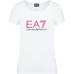 textil Dame T-shirts m. korte ærmer Emporio Armani EA7 8NTT63 TJ12Z hvid