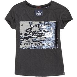 textil Dame T-shirts m. korte ærmer Superdry G10010MR Grå