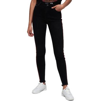 textil Dame Smalle jeans Superdry G70015ER Sort