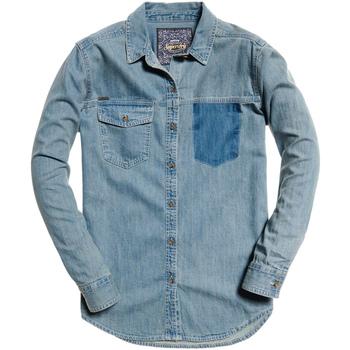 textil Dame Skjorter / Skjortebluser Superdry G40004IR Blå