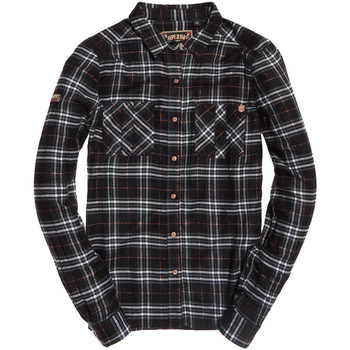 textil Dame Skjorter / Skjortebluser Superdry G40001RR Sort