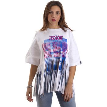 textil Dame T-shirts m. korte ærmer Versace B2HVB7V730384003 hvid