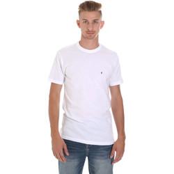 textil Herre T-shirts m. korte ærmer Les Copains 9U9011 hvid