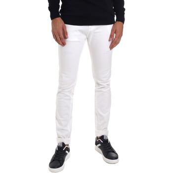 textil Herre Smalle jeans Gaudi 011BU25061 hvid