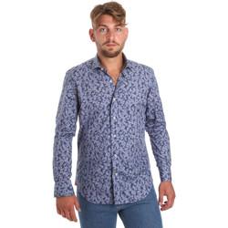 textil Herre Skjorter m. lange ærmer Betwoin D066 6635535 Blå