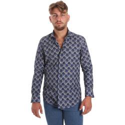 textil Herre Skjorter m. lange ærmer Betwoin DB111 Blå