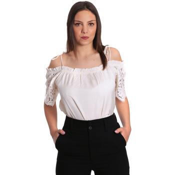 textil Dame Toppe / Bluser Gaudi 811FD45011 Beige