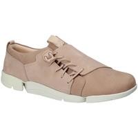 Sko Dame Lave sneakers Clarks 131761 Lyserød