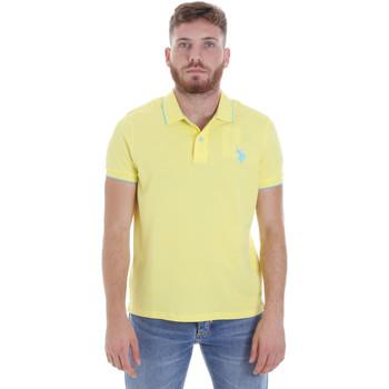 textil Herre Polo-t-shirts m. korte ærmer U.S Polo Assn. 58561 41029 Gul