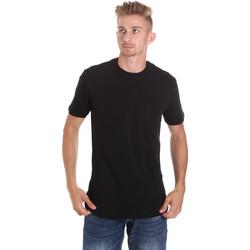 textil Herre T-shirts m. korte ærmer Les Copains 9U9010 Sort