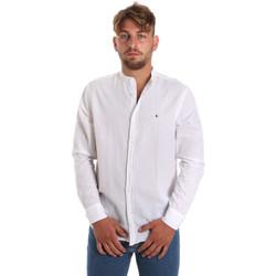 textil Herre Skjorter m. lange ærmer Les Copains 9U2722 hvid