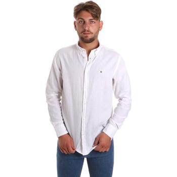 textil Herre Skjorter m. lange ærmer Les Copains 9U2371 hvid