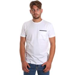 textil Herre T-shirts m. korte ærmer Antony Morato MMKS01798 FA100212 hvid