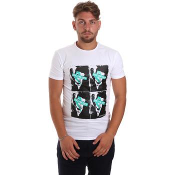 textil Herre T-shirts m. korte ærmer Antony Morato MMKS01743 FA120001 hvid