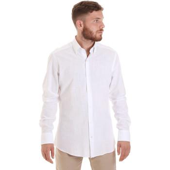 textil Herre Skjorter m. lange ærmer Les Copains 20P.689 P700SL hvid