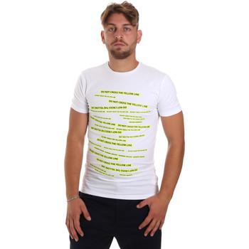 textil Herre T-shirts m. korte ærmer Antony Morato MMKS01749 FA120001 hvid