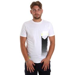 textil Herre T-shirts m. korte ærmer Antony Morato MMKS01794 FA100189 hvid
