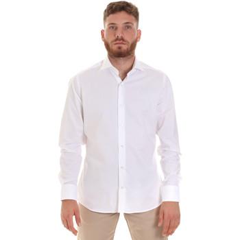 textil Herre Skjorter m. lange ærmer Les Copains 000.076 P3196 hvid