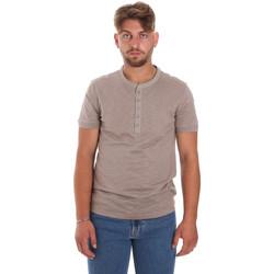 textil Herre T-shirts m. korte ærmer Antony Morato MMKS01725 FA100139 Brun