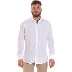 textil Herre Skjorter m. lange ærmer Les Copains 000.006 P3196SL hvid