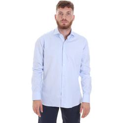 textil Herre Skjorter m. lange ærmer Les Copains 20P.887 P3196SL Blå