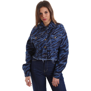textil Dame Cowboyjakker Versace C0HVB939AQC5Q904 Blå