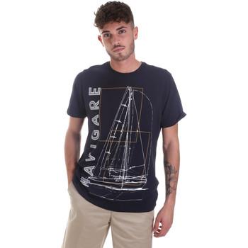 textil Herre T-shirts m. korte ærmer Navigare NV31109 Blå
