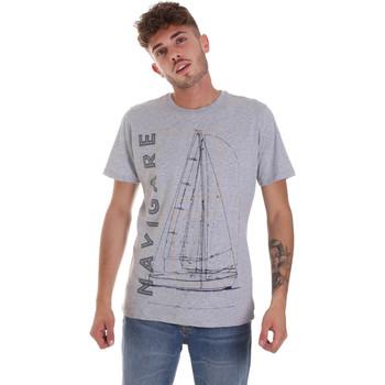 textil Herre T-shirts m. korte ærmer Navigare NV31109 Grå