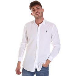 textil Herre Skjorter m. lange ærmer U.S Polo Assn. 58835 50655 hvid