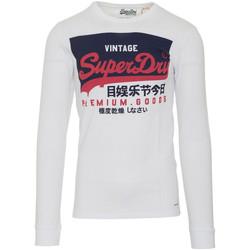 textil Herre Langærmede T-shirts Superdry M6010048A hvid