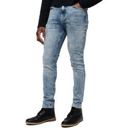 textil Herre Jeans Superdry M70015ET Blå