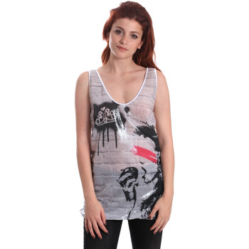 textil Dame Toppe / T-shirts uden ærmer Fornarina BE175J67H27509 hvid
