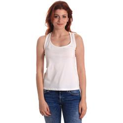 textil Dame Toppe / T-shirts uden ærmer Fornarina BE175L04JG0709 hvid