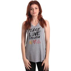 textil Dame Toppe / T-shirts uden ærmer Fornarina BERT476JF7206 Grå