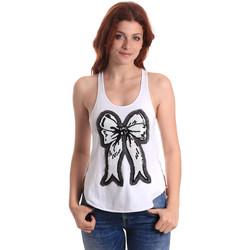 textil Dame Toppe / T-shirts uden ærmer Fornarina SE17T517JG0709 hvid