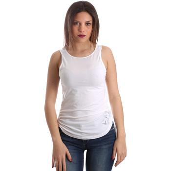 textil Dame Toppe / T-shirts uden ærmer Ea7 Emporio Armani 3GTH54 TJ28Z hvid