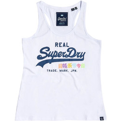textil Dame Toppe / T-shirts uden ærmer Superdry G60516ST hvid