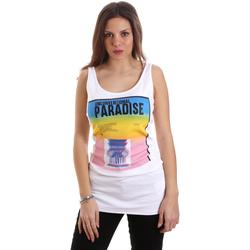 textil Dame Toppe / T-shirts uden ærmer Versace D2HVB4V030384003 hvid