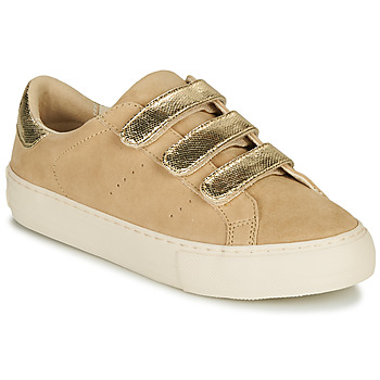 Sko Dame Lave sneakers No Name ARCADE STRAPS Beige / Guld