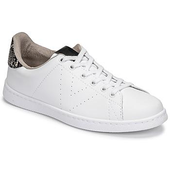 Sko Dame Lave sneakers Victoria TENIS VEGANA SERPIENTE Hvid / Sort