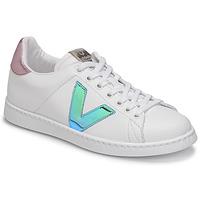 Sko Dame Lave sneakers Victoria TENIS VEGANA VINI Hvid / Blå / Pink