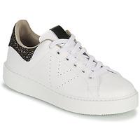 Sko Dame Lave sneakers Victoria UTOPIA GLITTER Hvid / Brun