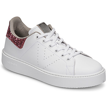 Sko Dame Lave sneakers Victoria UTOPIA GLITTER Hvid / Pink
